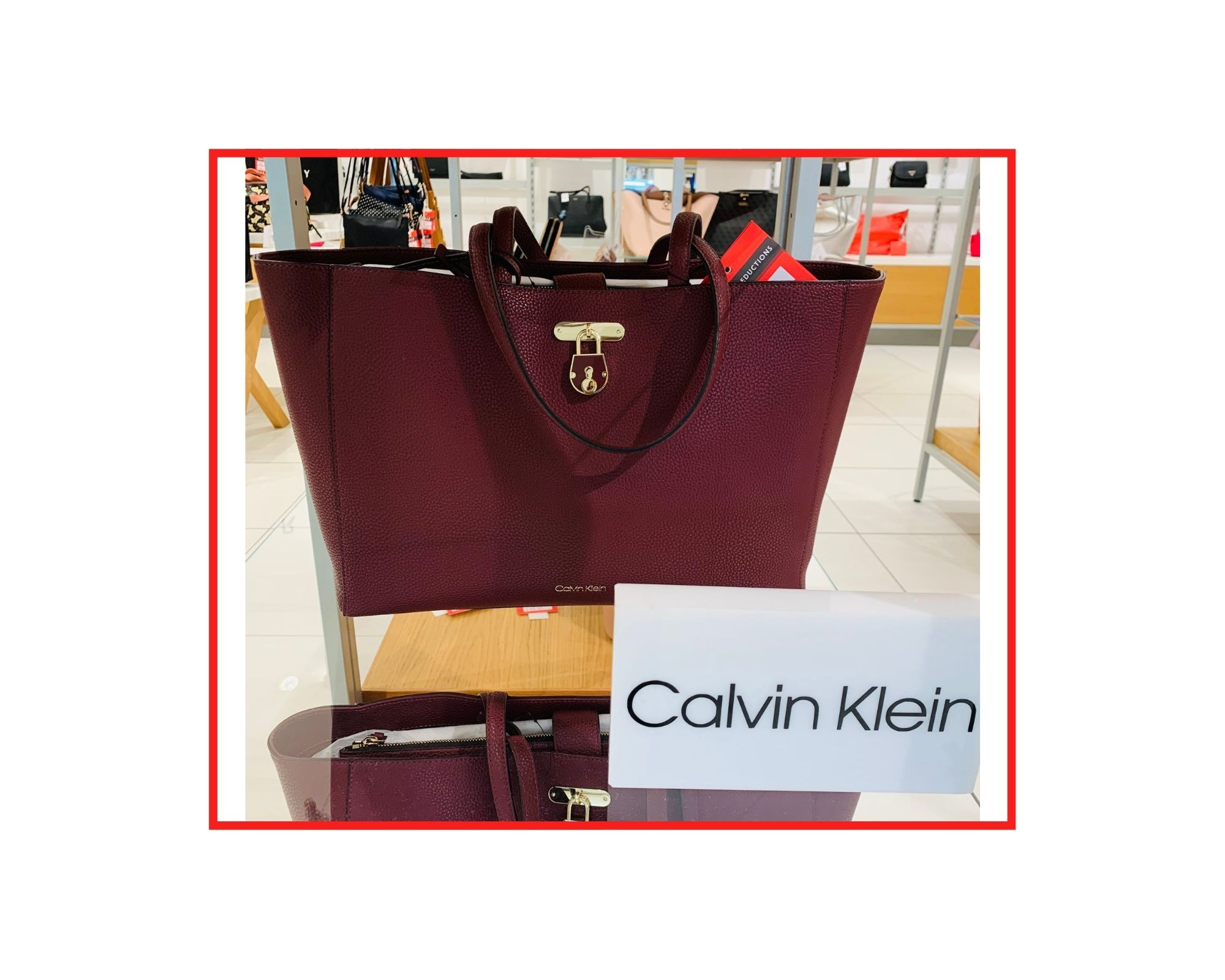 Clavin Klein  Shopper With Detachable Laptop Sleeve  UK £145 | JSY £130.50 | NOW £91.35